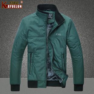 冬装立领韩版修身加厚棉衣 男装休闲保暖棉服男士外套
