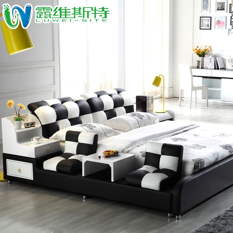кожаная кровать Luweisite  1.8 252#