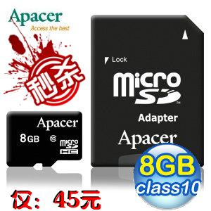 Карта памяти Apacer 8g Tf/micro Sd Class10