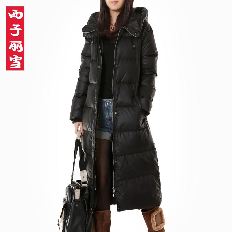 Женский пуховик Зима Снег Xizili новый плюс размер белый длинный толстый пуховик Куртка Пальто 2183