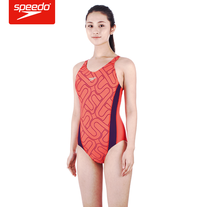 游泳装备:焦刘洋同款Speedo速比涛女式泳衣泳帽泳镜+迪卡侬游泳包 快干浴巾