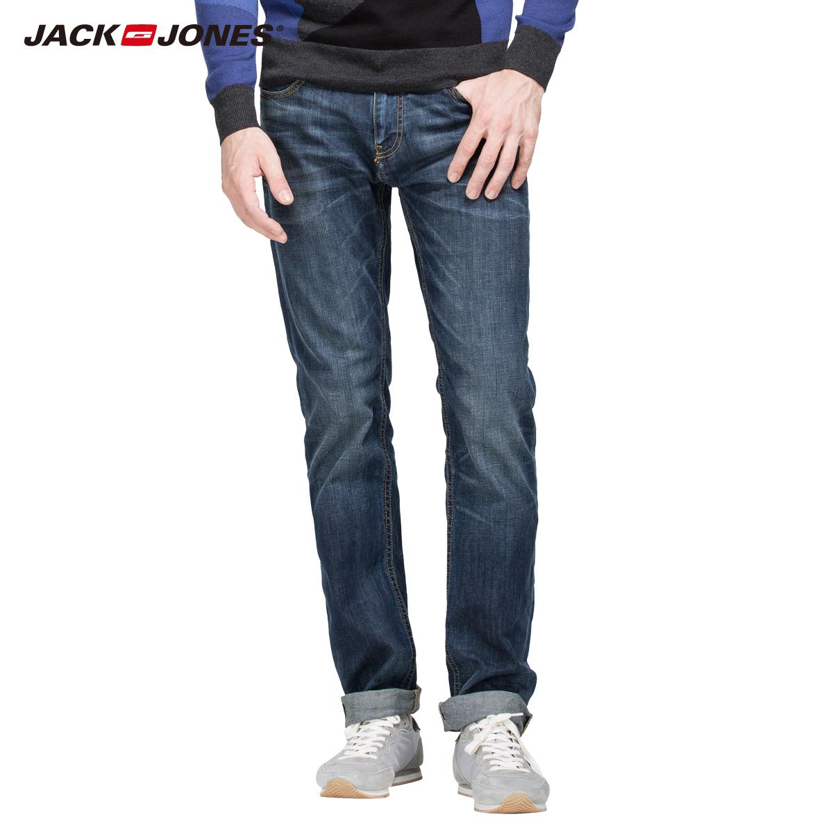 首降5折Jackjones进口含莱卡水洗直筒男牛仔裤C|214332003