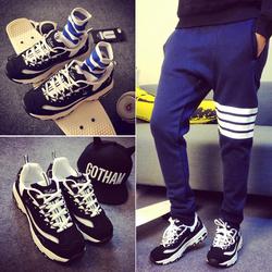 春季帆布鞋运动休闲鞋韩版潮流男鞋子男士板鞋情侣鞋透气垫鞋潮鞋