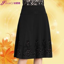 [年末聚惠] 中老年半身裙秋冬妈妈装裙子中年女裙半裙老年人裙子高腰裙跳舞裙
