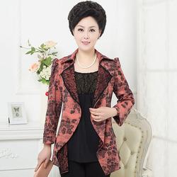 [国庆特惠] 尚菊中老年女装春装长袖优雅中年女装秋装早秋套装风衣外套