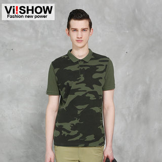 Viishow2015 men's street fashion Camo short sleeve POLO shirts stamped man's European and American minimalism short sleeve polo shirt