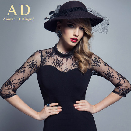 The AD business attire temperament cultivate one's morality dress vogue of new fund of 2014 autumn ol sexy dress bag hip