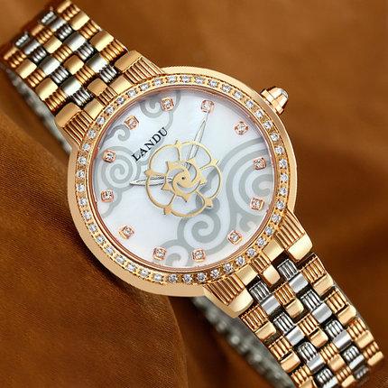 兰度L52018 原创淑女表钢带 防水女士手表时尚 气质手表女款表