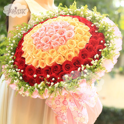 Buy Champagne Rose 99 Bozhou City Florist Flower Delivery Flowers