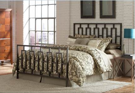 HR- French industrial -style wrought-iron beds , modern Chinese iron beds , 1.5, 1.8 m double iron bed shipping