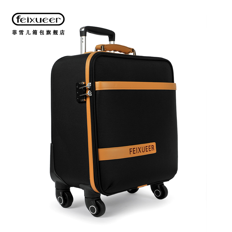 Luggage & Travel Bags Luggage & Bags Careful 16 Inch Business Casual Mens Board Chassis Trolley Suitcase Caster Oil Skin Lockbox Rolling Luggage Trolley Travel Luggage Case