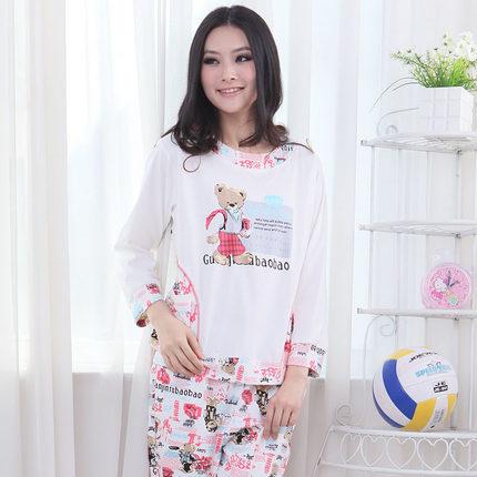c283f67da7 Get Quotations · Spring and winter pajamas cute cartoon bear Korean ladies  long sleeve pajamas pajamas leisure suit women