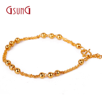 Get Quotations Kyrgyzstan Thousands Of Gold Jewelry Las Fashion Au999 Light Bead Bracelet Gift Genuine