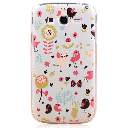 Peter America Samsung I9082 mobile phone shell I9080 bird phone retro flower painted shell protective sleeve