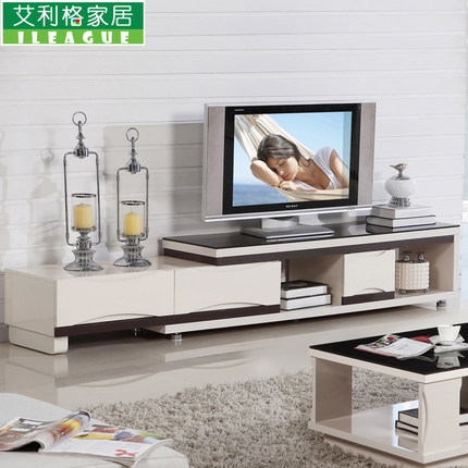 Buy minimalist living room tv cabinet retractable glass for Cheap living room cabinets