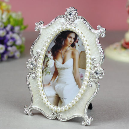 5-inch / 6 -inch / 7 -inch high-end European-style alloy frames / inlay diamond / wedding oval frame image / T513