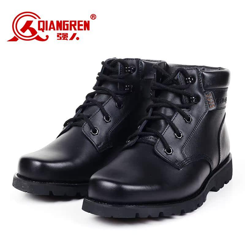 【售罄】3515强人男真皮羊毛靴潮流保暖皮靴军勾军靴特种兵靴大头棉鞋