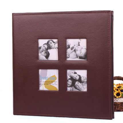 DIY album with waxed paper to protect this high-grade leather oversized A4 photo album Valentines Day gift ideas