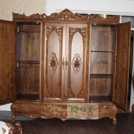Diana Wong Wardrobe Grapefruit Old Teak Wood Furniture, European Furniture Wardrobe  Closet Bedroom Furniture