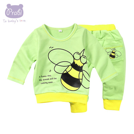 19b29e094 Buy Men and women casual long-sleeved baby boy autumn cartoon suit ...