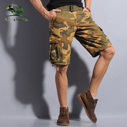 Introduction quarter 2014 new wave of male outdoor camouflage shorts male in pants casual pants five pants loose pants Xia Jijun