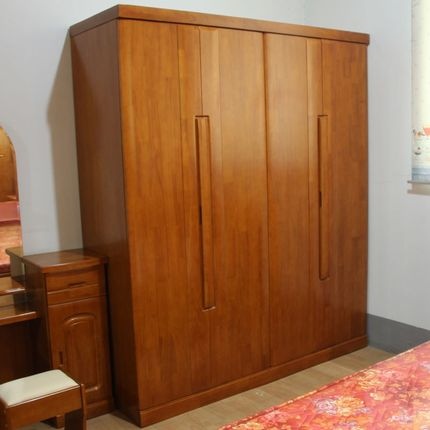 Green living love new Chinese furniture modern Chinese four wooden wardrobe wood wardrobe closet four cabinet