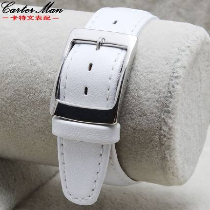 Carter paper thin leather strap watch accessories Crossings tabby female bracelet 17mm adapter Swatch watches