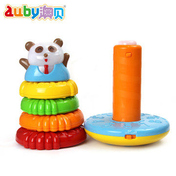 O Pui panda Stacker Rainbow Circle Rings infant educational toys baby toys 0-1-3 years old early childhood intussusception