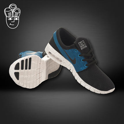 new concept 72fc2 49785 Get Quotations · Nike SB Stefan Janoski Max Nike Air running shoes men s  new blue 631 303