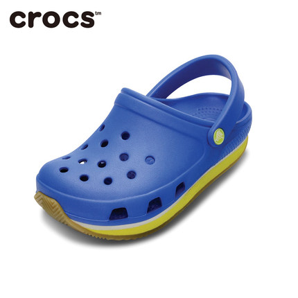 Free shipping Crocs Crocs shoes Chloe Luo grid engraved Children shoes breathable hole shoes | 14006