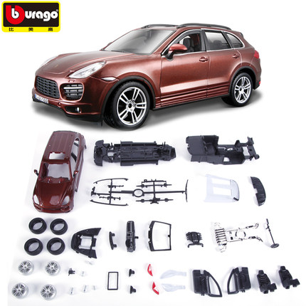 1:24 assembled car model Porsche Cayenne sport utility vehicle SUV assembly factory simulation alloy car models