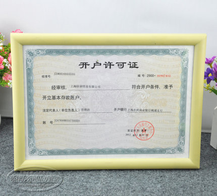 A4 candy-colored wall- frame swing sets frame display card authorization documents, 12-inch photo frame wall certificate
