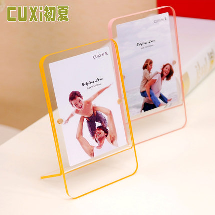 New Acrylic Photo Frame summer swing sets creative photo frame 5 inch 6 modern and simple crystal photo frame wholesale