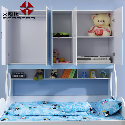 Fire Totem mother and child bed with wardrobe bed bed bed 1.2 m multi-functional combination of bed furniture cluster bed 3B03