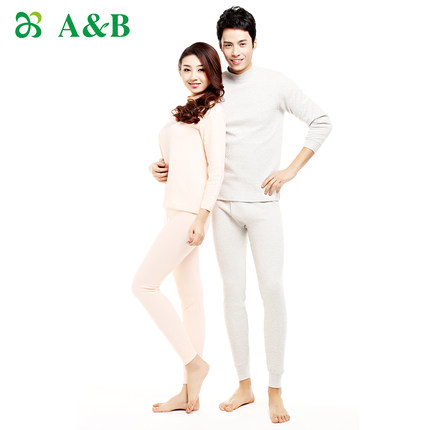 Get Quotations · AB combed cotton underwear counters authentic half- collar  male and female couple three warm underwear dadd5bb58