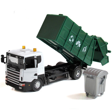 CSL 1:43 garbage truck / fire / dumpers model alloy car model children's toy construction vehicles