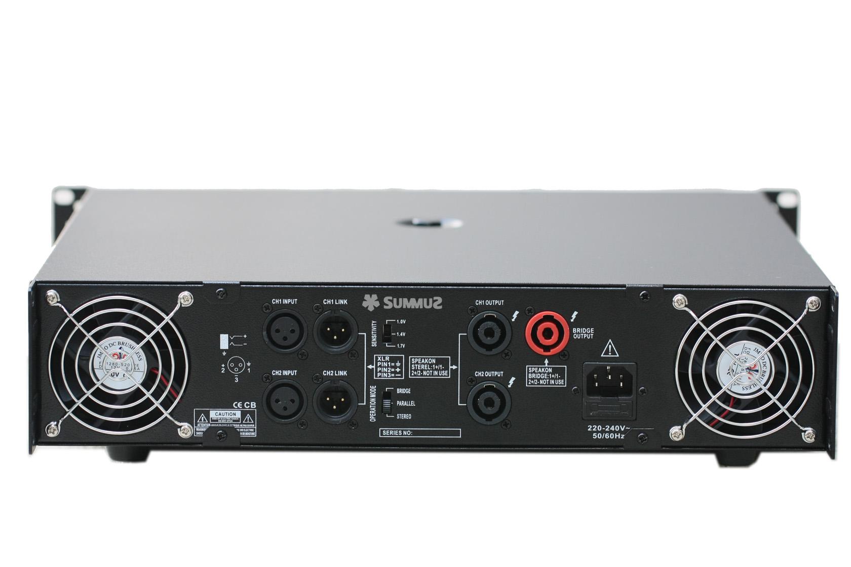 hi fi Усилитель мощности Summuz  AB220 200W*2 KTV OK