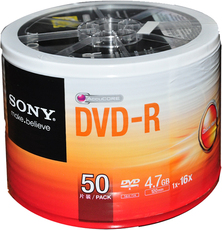 Диски CD, DVD Sony 4.7g Dvd