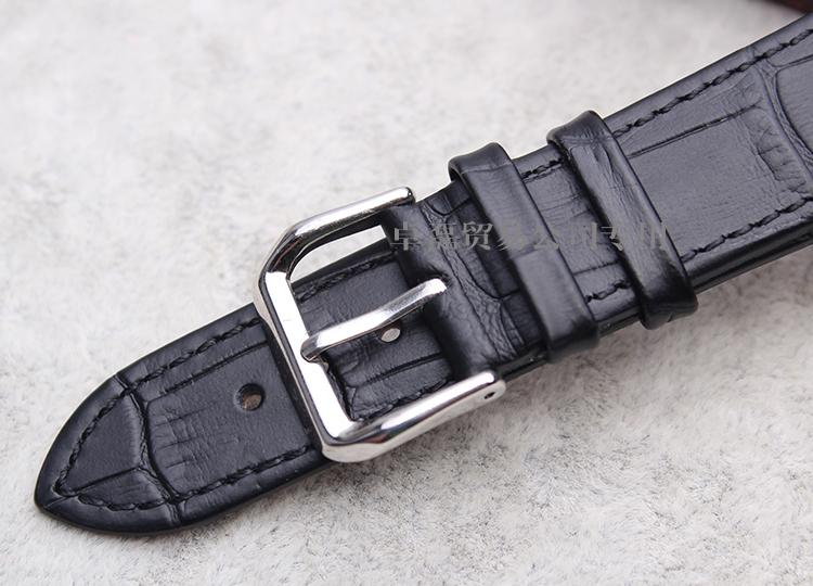 Часы Чжо lei часы браслет из натуральной кожи импортируется кожа супер тонкий плоский ремешок для Россини стола|под волну ремень