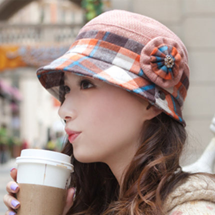 8a0e86d72ccee Get Quotations · 2014 new fashionable ladies hats bucket hats lovely warm  autumn and winter knitted wool flower decoration