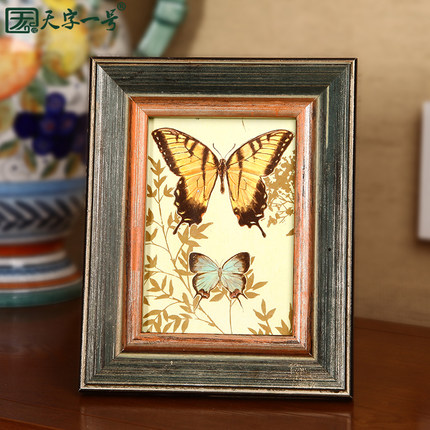 European high-grade bully One small frame swing sets 3 -inch 6-inch 7-inch photo frame wooden wood creative photo frames