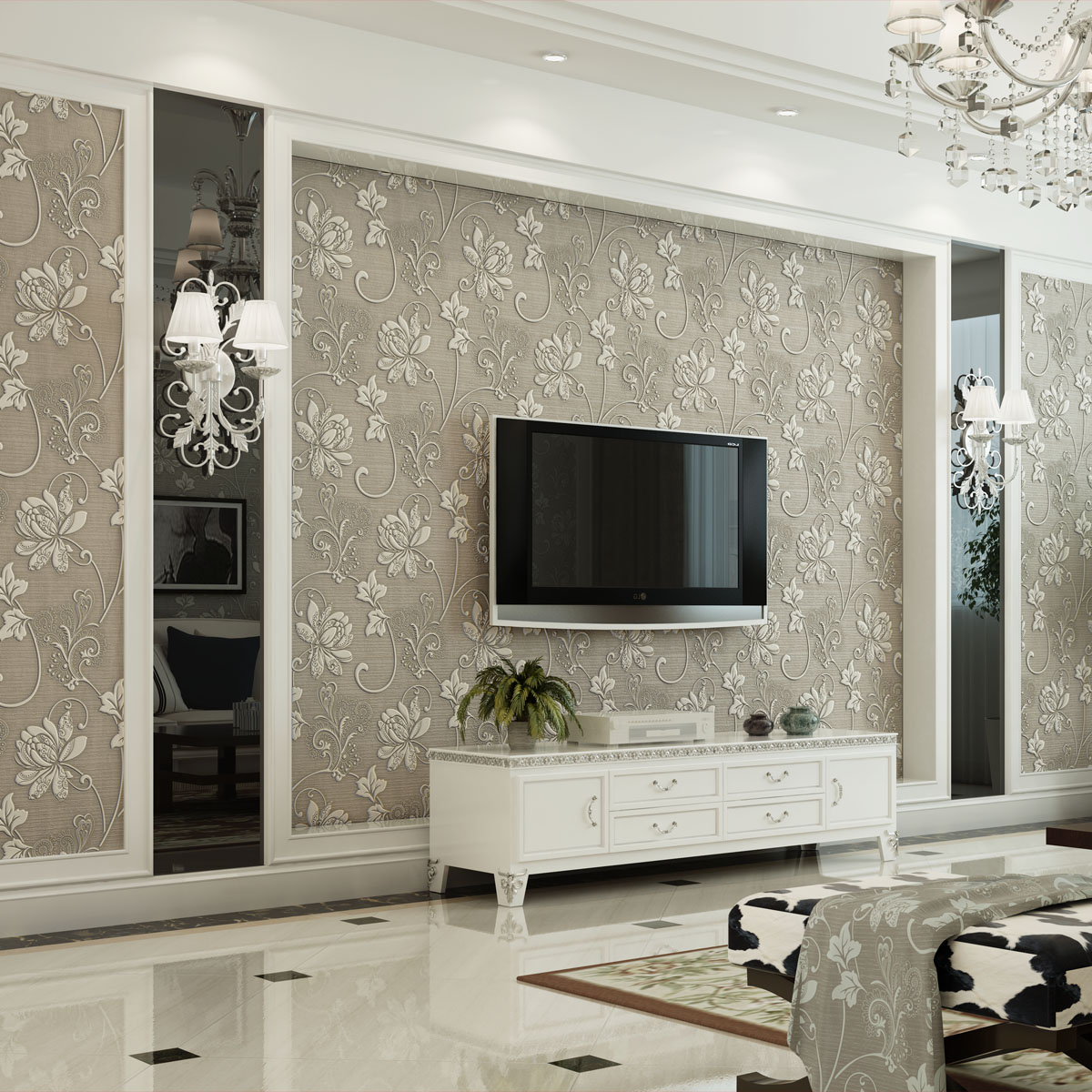 Дизайн стен в зале идеи фото