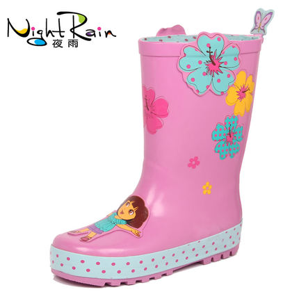 Buy Childrens fashion rain boots for girls Dora rain boots rubber ...