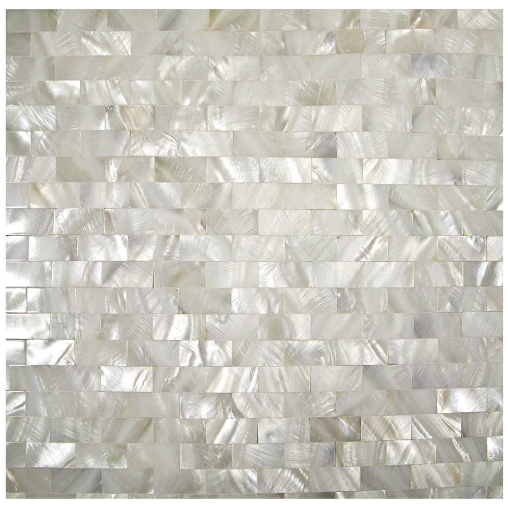 Capiz wave mosaic floor mirror