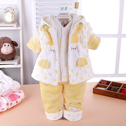Girls Spring and Autumn 2014 the new 0-1-2 3-4-5-6-7-8-9 -month old baby suit baby clothes