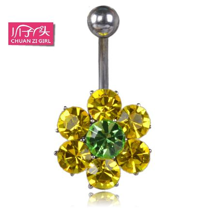 Japan and South Korea genuine Plum River sub- girl nails navel navel ring navel buckle multicolor sweet female models are not allergic to jewelry