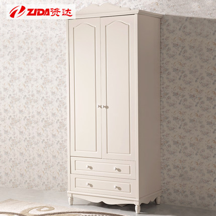 Korean Capital Amounted To Paint Modern Wardrobe Closet Simple Wood Embled Two Baby