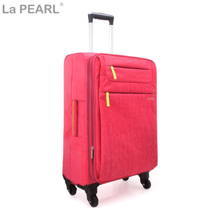 La Pearl soft box canvas suitcase trolley caster travel ultralight wind  board chassis female 20