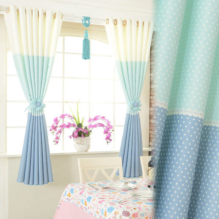 Ming Poly Upscale Short Half Curtain Fabric Finished Custom Living Room Bedroom Windows And Blackout Curtains Rainbow Mood