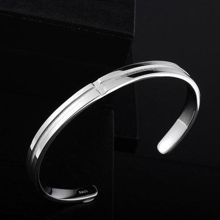 Ming Yang Hai 925 Silver Cross decorated men's bracelet Korean despot personalized jewelry